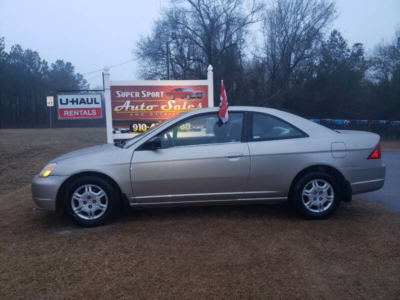 2002 Honda Civic for sale at Super Sport Auto Sales in Hope Mills NC