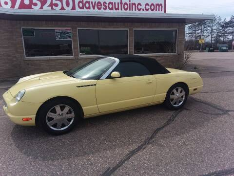 2002 Ford Thunderbird for sale at Dave's Auto Sales & Service in Weyauwega WI
