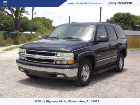 2003 Chevrolet Tahoe for sale at M & M AUTO BROKERS INC in Okeechobee FL