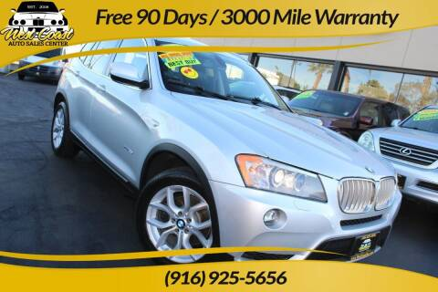 2011 BMW X3 for sale at West Coast Auto Sales Center in Sacramento CA
