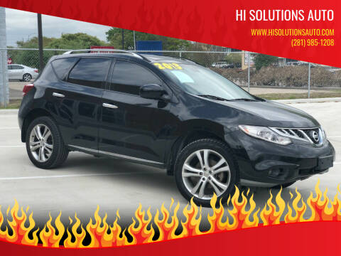 2013 Nissan Murano for sale at HI SOLUTIONS AUTO in Houston TX