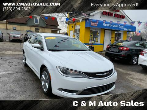 2016 Chrysler 200 for sale at C & M Auto Sales in Detroit MI