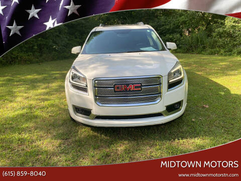 2013 GMC Acadia for sale at Midtown Motors in Greenbrier TN