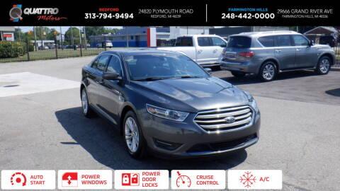2018 Ford Taurus for sale at Quattro Motors 2 - 1 in Redford MI