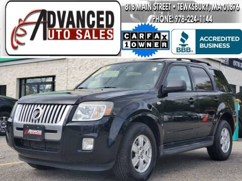 2009 Mercury Mariner for sale at Advanced Auto Sales in Tewksbury MA