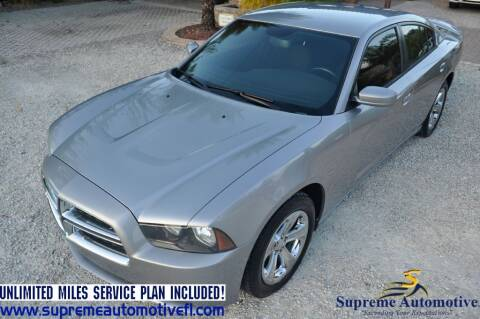 2014 Dodge Charger for sale at Supreme Automotive in Land O Lakes FL