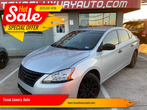 2015 Nissan Sentra for sale at Texas Luxury Auto in Cedar Hill TX