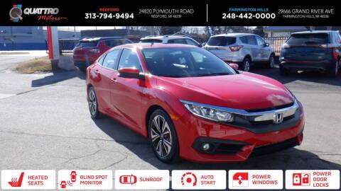2016 Honda Civic for sale at Quattro Motors 2 - 1 in Redford MI