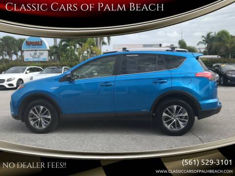 2016 Toyota RAV4 Hybrid for sale at Classic Cars of Palm Beach in Jupiter FL