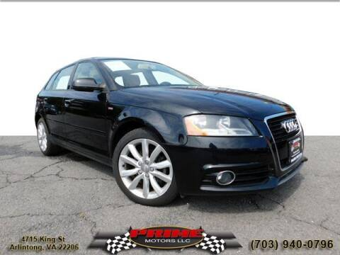 2011 Audi A3 for sale at PRIME MOTORS LLC in Arlington VA