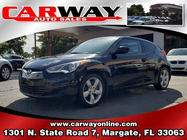2012 Hyundai Veloster for sale at CARWAY Auto Sales in Margate FL