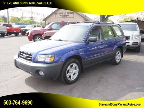 2004 Subaru Forester for sale at Steve & Sons Auto Sales in Happy Valley OR