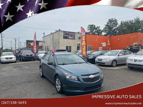 2012 Chevrolet Cruze for sale at Impressive Auto Sales in Philadelphia PA
