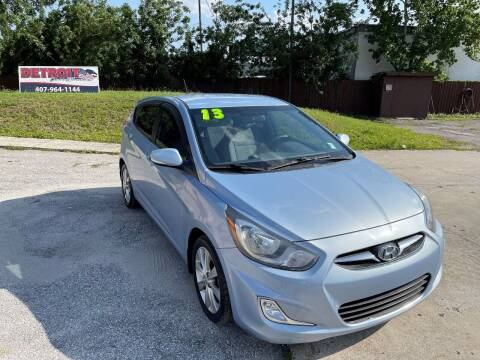 2013 Hyundai Accent for sale at Detroit Cars and Trucks in Orlando FL