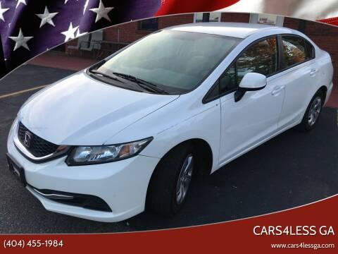 2013 Honda Civic for sale at Cars4Less GA in Alpharetta GA