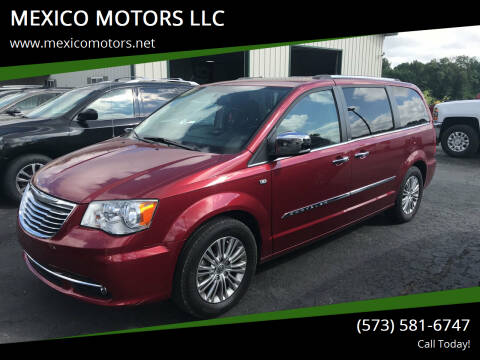 2014 Chrysler Town and Country for sale at MEXICO MOTORS LLC in Mexico MO