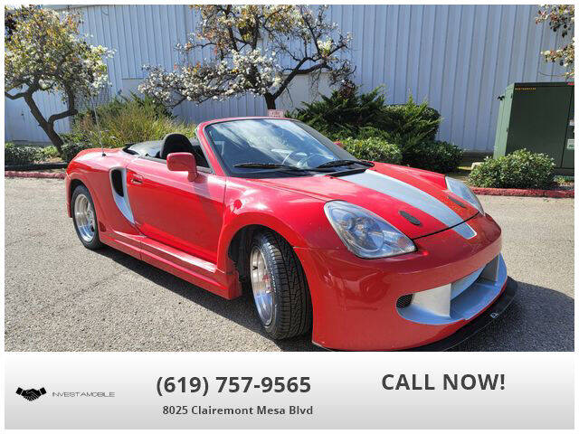2003 Toyota MR2 Spyder for sale at INVESTAMOBILE in San Diego CA