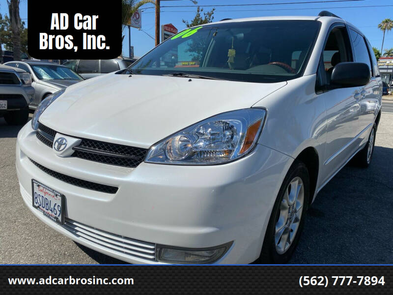 2005 Toyota Sienna for sale at AD Car Bros, Inc. in Whittier CA