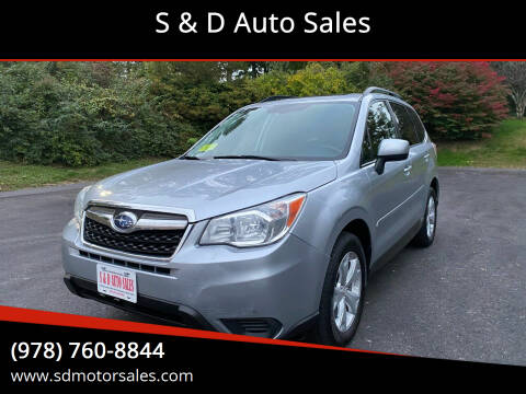 2014 Subaru Forester for sale at S & D Auto Sales in Maynard MA