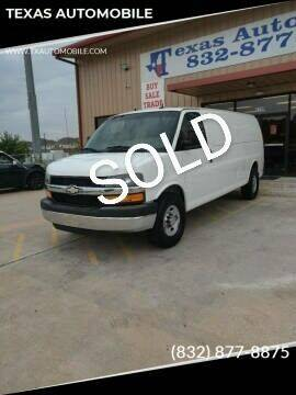 2012 Chevrolet Express Passenger for sale at TEXAS AUTOMOBILE in Houston TX