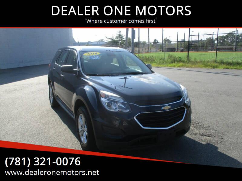 2016 Chevrolet Equinox for sale at DEALER ONE MOTORS in Malden MA
