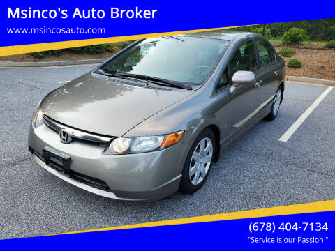 2008 Honda Civic for sale at Msinco's Auto Broker in Snellville GA
