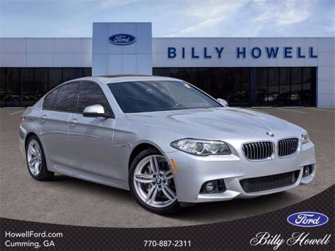 2016 BMW 5 Series for sale at BILLY HOWELL FORD LINCOLN in Cumming GA