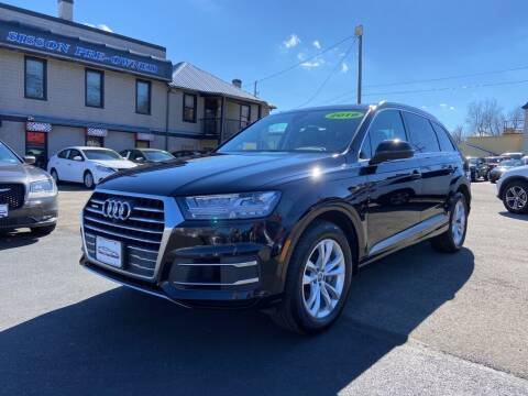 2019 Audi Q7 for sale at Sisson Pre-Owned in Uniontown PA