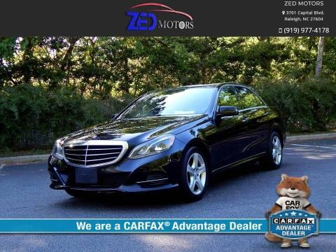 2016 Mercedes-Benz E-Class for sale at Zed Motors in Raleigh NC