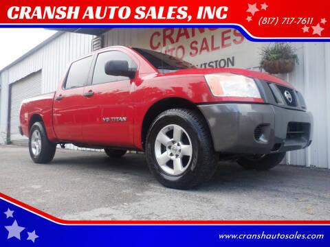 2008 Nissan Titan for sale at CRANSH AUTO SALES, INC in Arlington TX