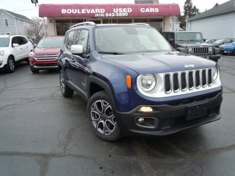 2017 Jeep Renegade for sale at Boulevard Used Cars in Grand Haven MI