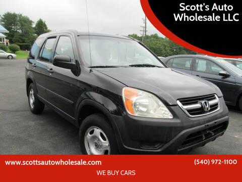 2004 Honda CR-V for sale at Scott's Auto Wholesale LLC in Locust Grove VA