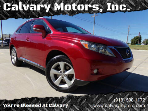 2012 Lexus RX 350 for sale at Calvary Motors, Inc. in Bixby OK