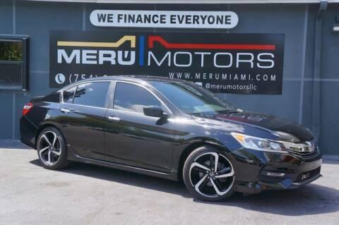 2016 Honda Accord for sale at Meru Motors in Hollywood FL