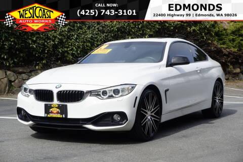 2014 BMW 4 Series for sale at West Coast Auto Works in Edmonds WA