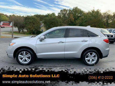 2013 Acura RDX for sale at Simple Auto Solutions LLC in Greensboro NC