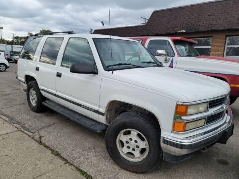 1998 Chevrolet Tahoe for sale at J & J Used Cars inc in Wayne MI