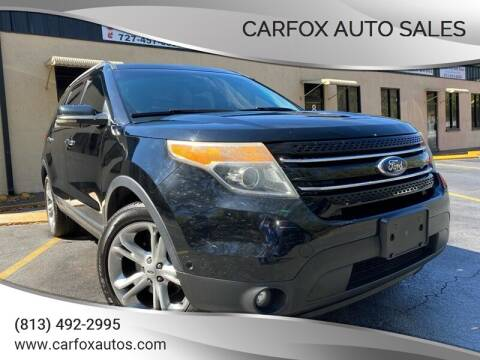 2012 Ford Explorer for sale at Carfox Auto Sales in Tampa FL