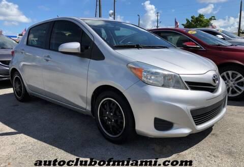 2013 Toyota Yaris for sale at AUTO CLUB OF MIAMI, INC in Miami FL