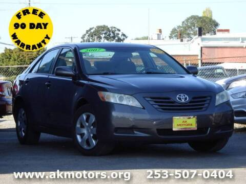 2007 Toyota Camry for sale at AK Motors in Tacoma WA