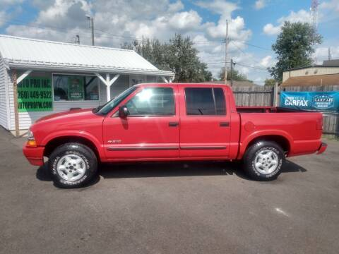 2003 Chevrolet S-10 for sale at Auto Pro Inc in Fort Wayne IN