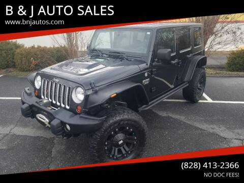 2012 Jeep Wrangler Unlimited for sale at B & J AUTO SALES in Morganton NC