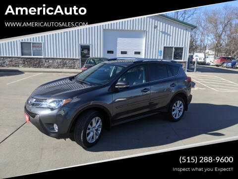 2013 Toyota RAV4 for sale at AmericAuto in Des Moines IA