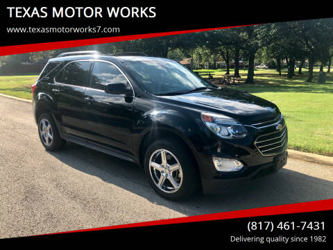 2016 Chevrolet Equinox for sale at TEXAS MOTOR WORKS in Arlington TX