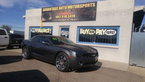2011 Chevrolet Camaro for sale at Advantage Auto Motorsports in Phoenix AZ