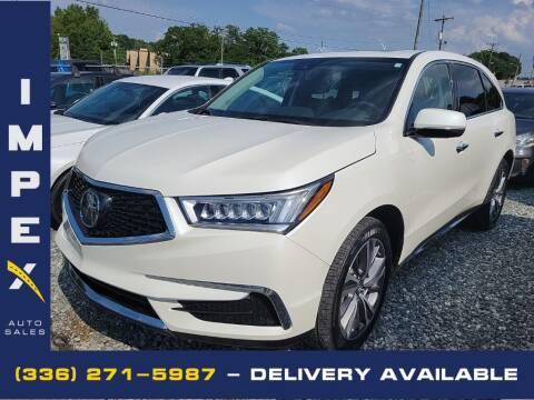 2018 Acura MDX for sale at Impex Auto Sales in Greensboro NC