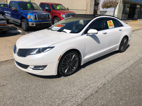 2016 Lincoln MKZ for sale at STEEL TOWN PRE OWNED AUTO SALES in Weirton WV