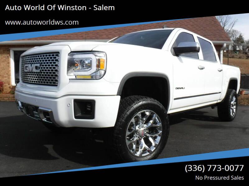 2014 GMC Sierra 1500 for sale at Auto World Of Winston - Salem in Winston Salem NC