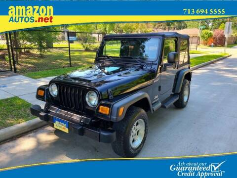2004 Jeep Wrangler for sale at Amazon Autos in Houston TX
