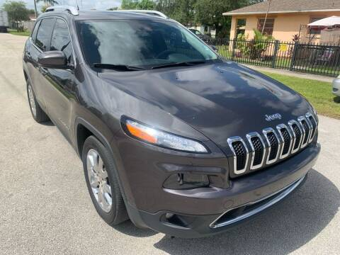 2014 Jeep Cherokee for sale at Eden Cars Inc in Hollywood FL